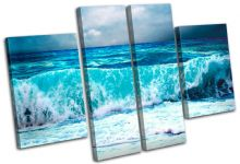 Storm Wave Blue Sunset Seascape - 13-0293(00B)-MP17-LO